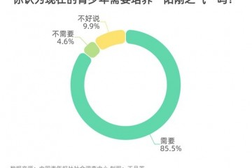 85.5%受访者明确青少年需要培养阳刚之气